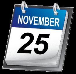 November 25th on Wikipedia