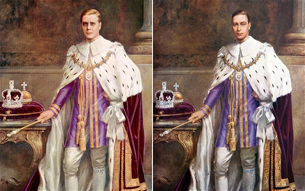 Edward VIII and George VI Coronation Portrait article on The Telegraph Jan 3 2012