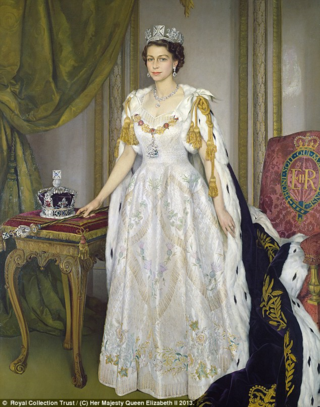 Queen Elizabeth Coronation Portrait linked to The Daily Mail May 21, 2013 article
