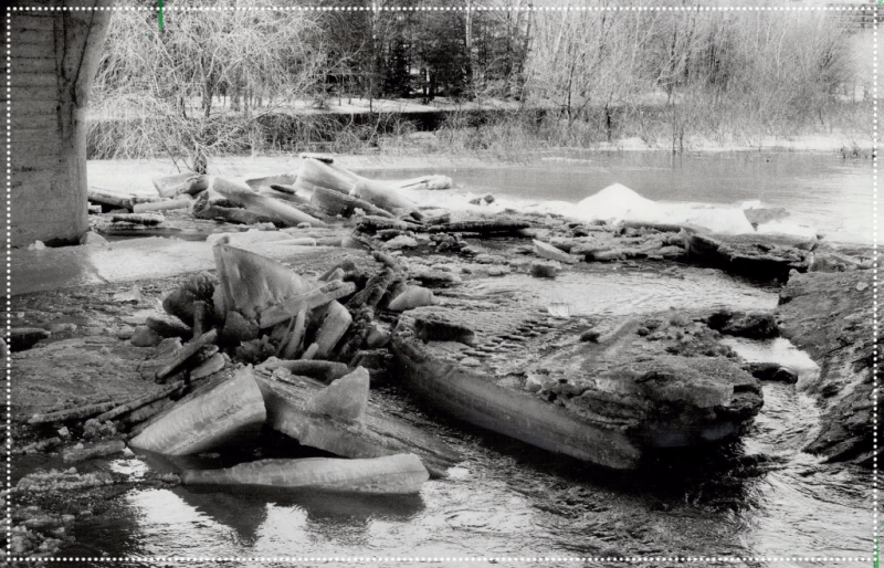 Link to TPL Archives of image of Muskoka in 1982 with ice melting