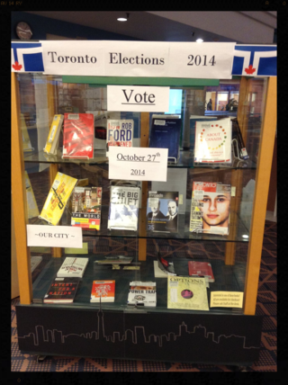 Society & Recreation Department Display October 2014