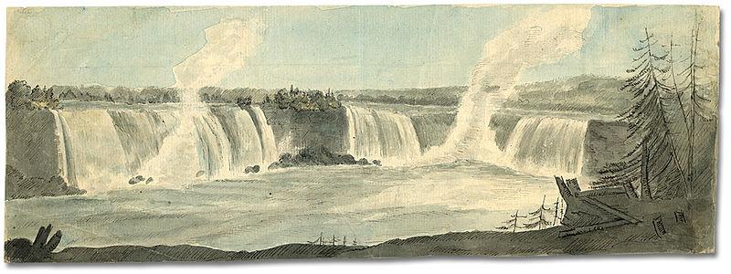 Niagara Falls, Ontario by Elizabeth Simcoe, summer 1792  item reference code F 47-11-1-0-71