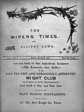 The Wipers Times, issue cover March 1916 Wellcome