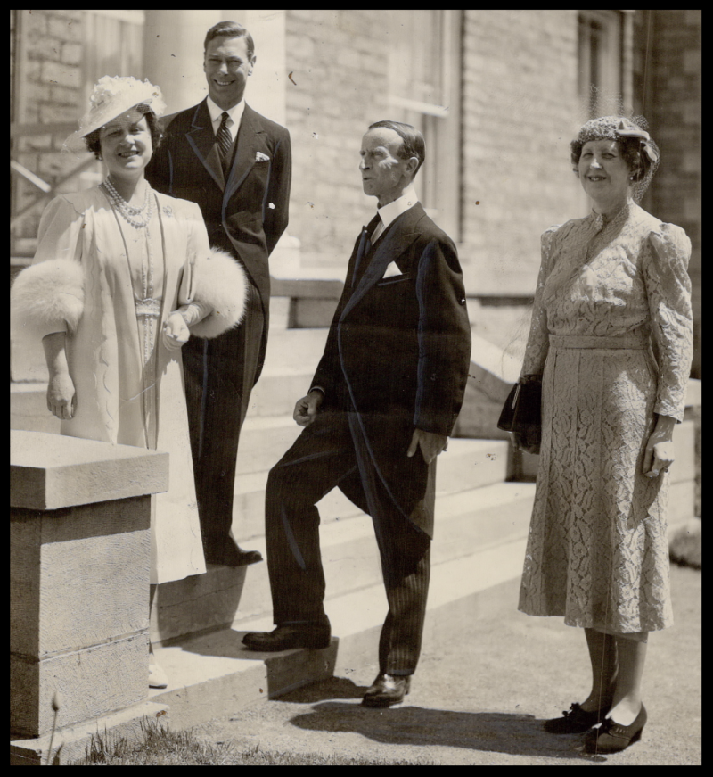 King and Queen in Ottawa with Lord and Lady Tweedsmuir, Canada's official hosts