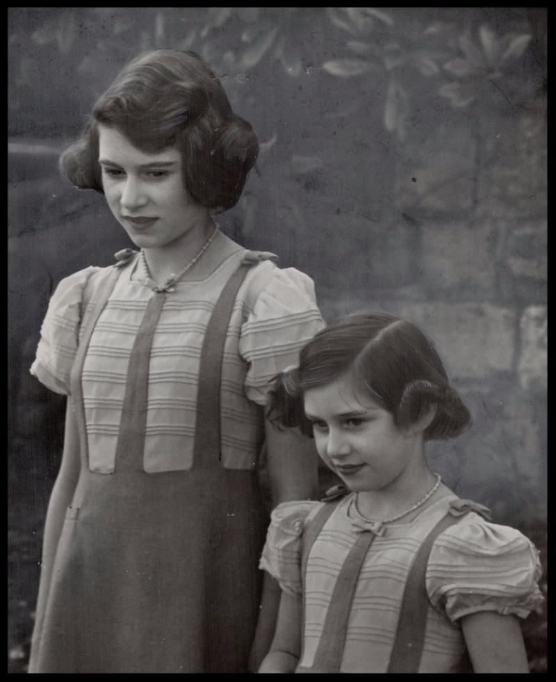 Princesses Elizabeth and Margaret Rose