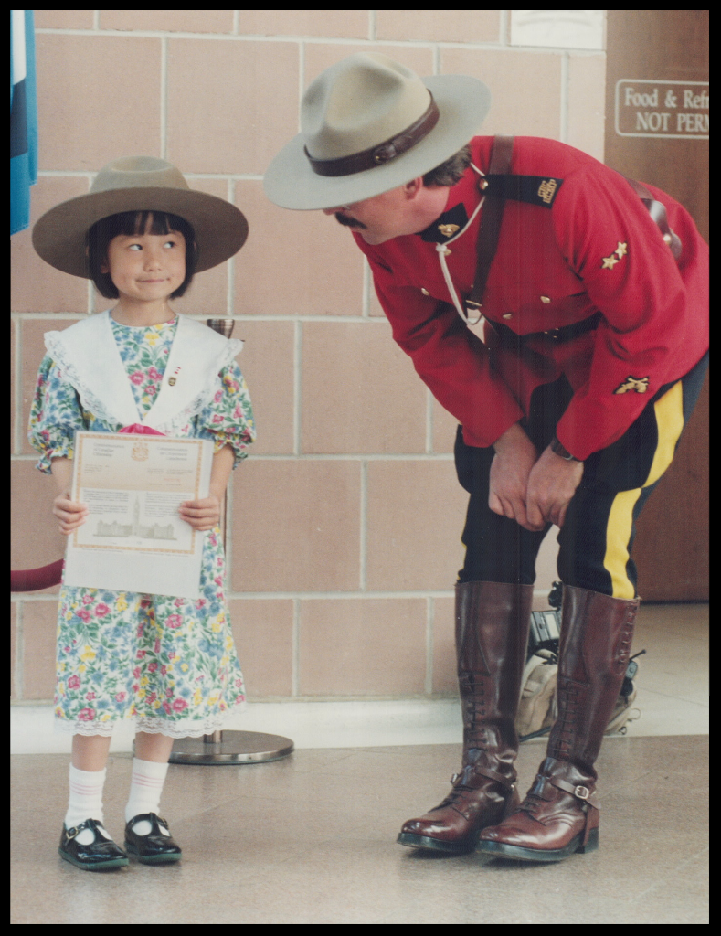 Little Mountie and new Canadian